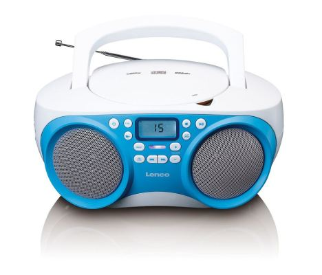 Radio mit CD-Player, PLL-Tuner, USB, Aux-in, stereo, blau/weiss
